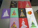 Christmas cards made by recyclsble materials